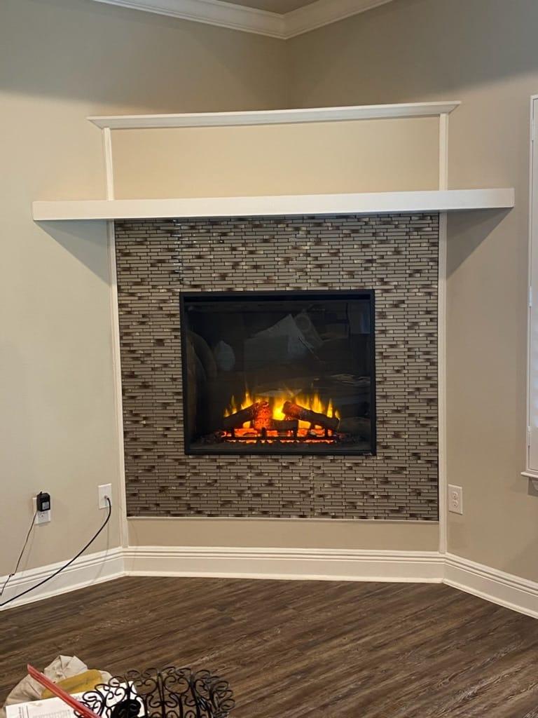 brand new fireplace installation Macon