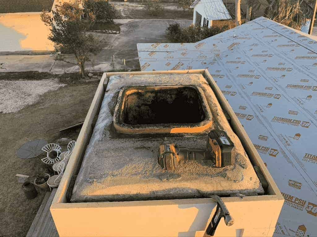 AFT flue tile repair on home in Mobile